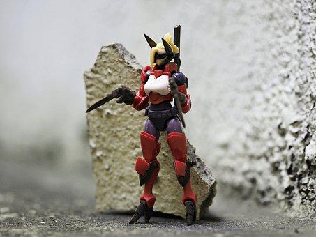 Light, Armor, Type, Rose, Female, Warrior, Weapon, Gun