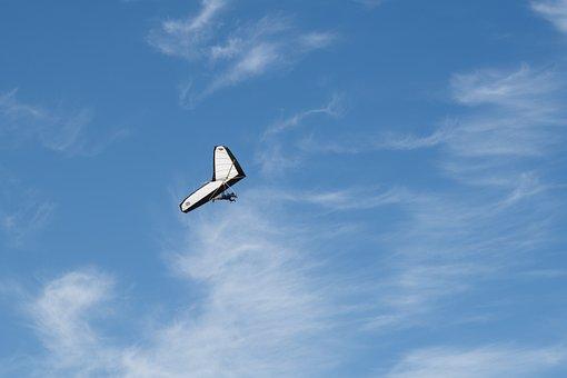 Hang Glider, Hang Gliding, Flying, Glide, Gliding