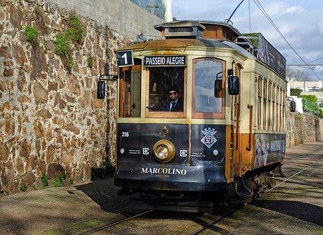 Porto, Tram, Portugal, Historically, Historic Center