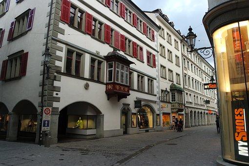 St Gallen, Spisergasse, Historically, Historic Center