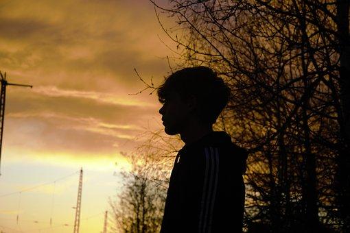 Sunset, Landscape, Nature, Abendstimmung, Dusk, Evening