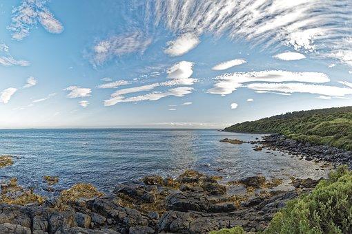 New Zealand, Stirling Point, Rock, Nature, Landscape