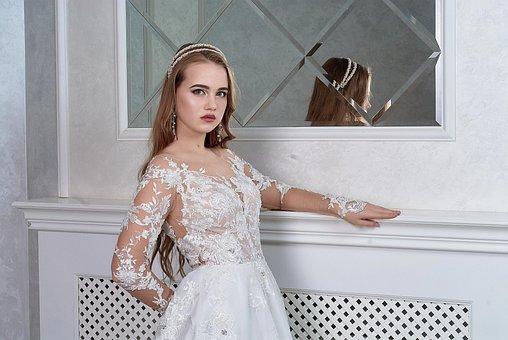 Wedding, Bride, Girl, Love, Couple, Woman, Dress, Lace