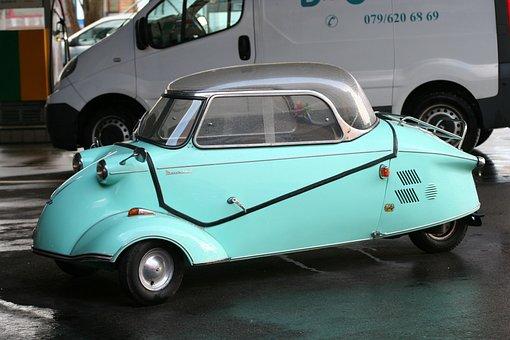 Messerschmitt, Piaggio, Roller, Tricycle, Oldtimer, Old