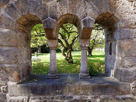 Arched Windows, Monastery Wall, Monastery Garden