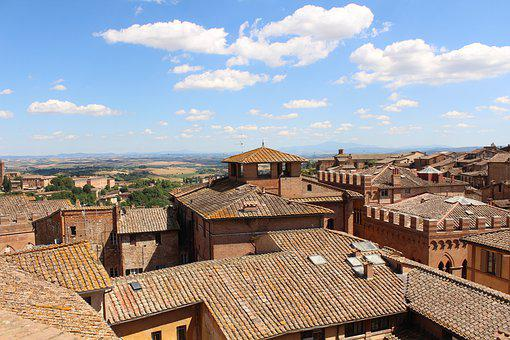 Italy, Montapulciano, Sky, Tourism, Architecture, City