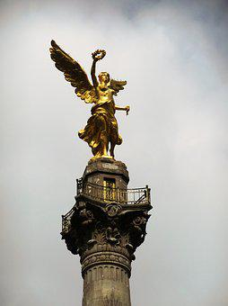 Angel, Independence, Mexico, Monument, Cdmx, National