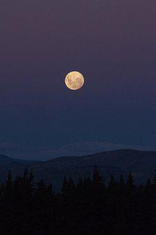 Moon, Landscape, Night, Space, Universe