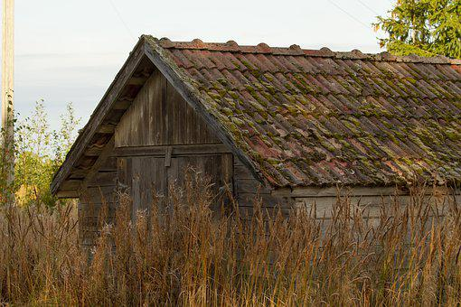 Barn, Roof, Moss, Building, Architecture
