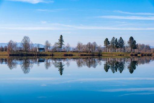 Landscape, Lake, Water, Trees, Rest, Nature, Blue Sky