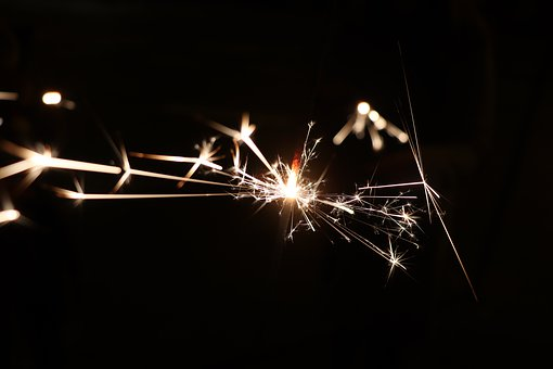 Sparkler, New Year's Eve, Radio, Fireworks, 2020