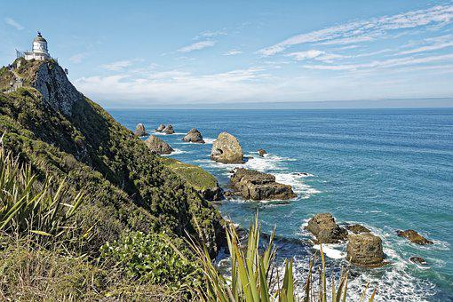 New Zealand, Nugget Point, Nugget Point Lighthouse