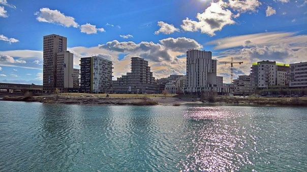 Seestadt Aspern, Vienna, Pond, City, Development Area