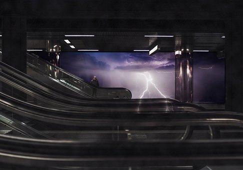 Storm, Station, Photo, Chicago, Rays, Scenic