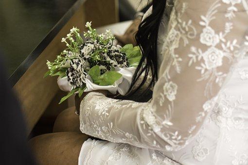 Wedding, Rings, Married, Marriage, Jewelry, Flowers