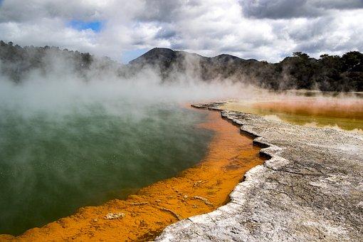 New Zealand, Champagne Pool, Wai-o-tapu, Rotorua