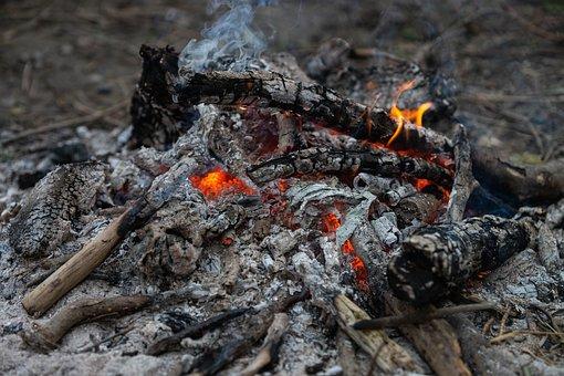 Ashes, Smoke, Wood, Fire, Fireplace, Burning, Landscape