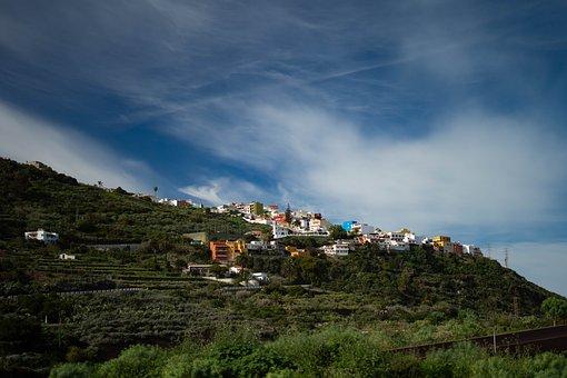 Tenerife, Town, Spain, City, Island, Landscape, Teide