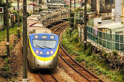 Train, Taiwan, Train Station, Rail