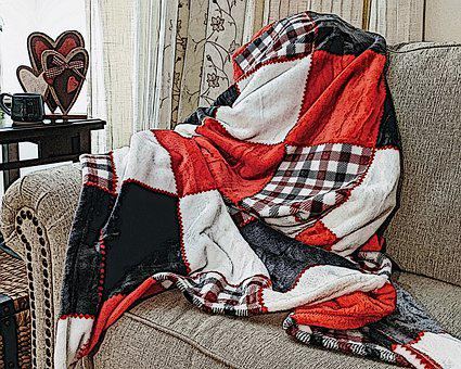 Valentines Day, Red Blanket, Throw Blanket