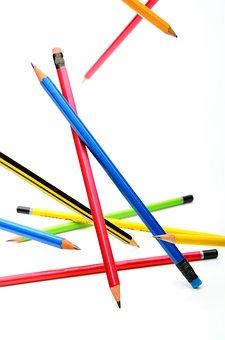 Pencil, Art, White, Color, Group, Education, Multi