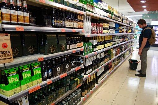 Alcohol, Super Market, Wine, Drink