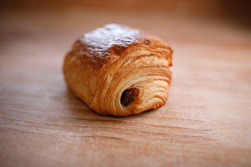 Chocolate Croissant, Bakery, Hunger, Bread, Food