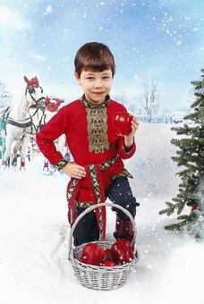 Baby, Boy, Slavs, Russian Style, Russian Folk Image