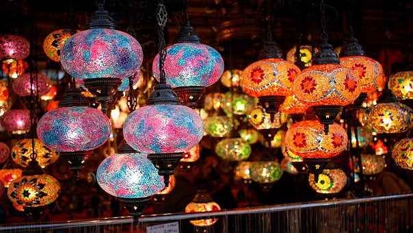 Lights, Colored, Decorative, Chandelier, Gift For Her