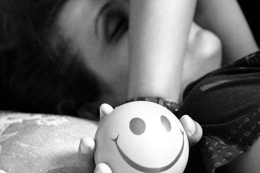 Depression, Sleep, Smiley Face, Loneliness, Girl, Sad