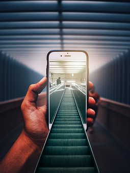 Photoshop, Manipulation, Mobile, Iphone, Escalator