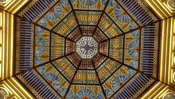 Casino Art, Fancy, Decorative Ceiling, Argosy