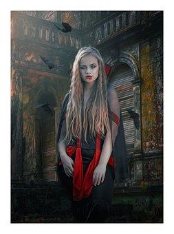 Vampire, Vamp, Female, Gothic, Dark, Fantasy, Woman
