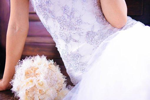 Bride, Bouquet, Wedding, Love, Flower, Woman, Romantic