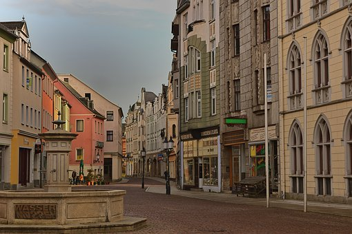 City, Marketplace, Fountain, Architecture, Historically