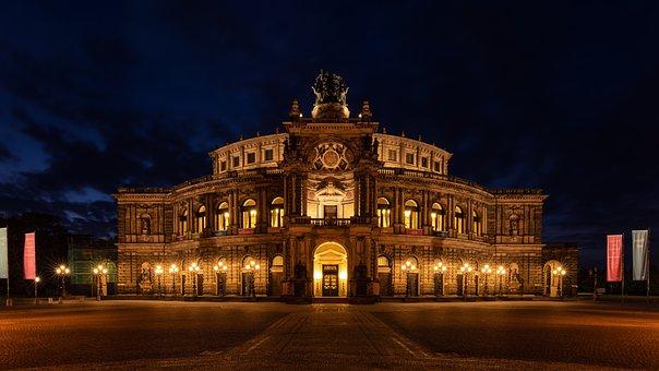 Semper Opera House, Dresden, Germany, Historic Center