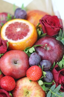 Fruit, Red, Bouquet, Products, Grapefruit, Strawberry