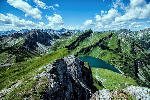 Hochvogel, 3 Lakes Round, Alpine, Hiking, Mountains
