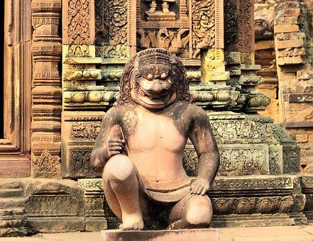 Cambodia, Angkor, Banteay Srei, Temple, Khmer, Ruin