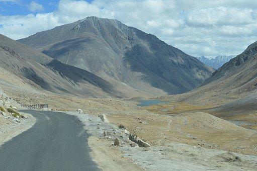 Road, Leh, Ladakh, India, Valley, Tourism, Scenic