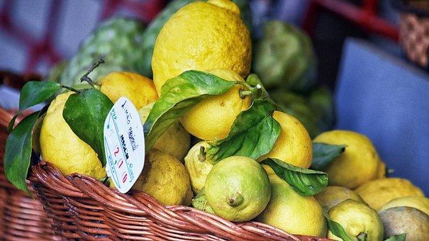Lemon, Lemons, Basket, Food, Healthy