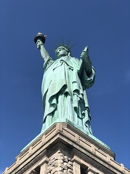 Nyc, Statue Liberty, Flame, Monument, Freedom
