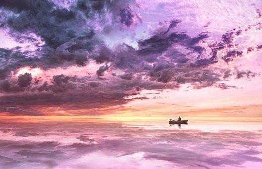 Nature, Landscape, Boat, Ship, Kahn, Angler