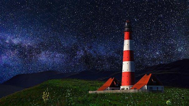 Star, Night, Universe, Landscape, Nature, Space