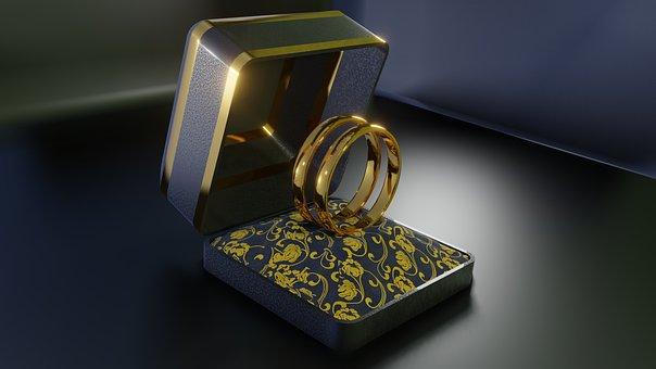 Alliance, Wedding, Union, Love, Jewelry, Ring, 3d