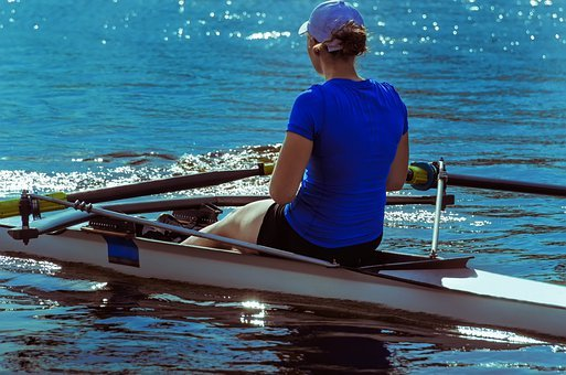 Rower, Leisure, Activity, Rowing, River, Water-sport