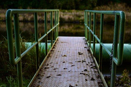 Bridge, Web, Twilight, Sad, Lonely, River, Dusk, Away