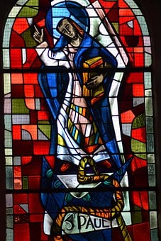 Stained Glass, Color, Window, Light, Church, Saint, Man