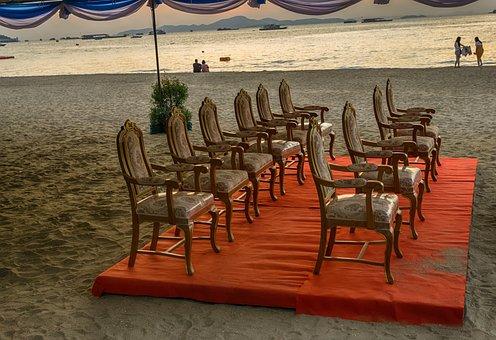 Pattaya, Thailand, Asia, Chairs, Beach, Sand, Vacations