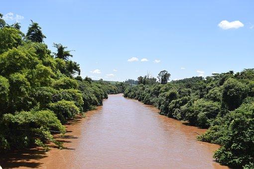Brazil, São Paulo, River, Rio Pardo, Water, Nature